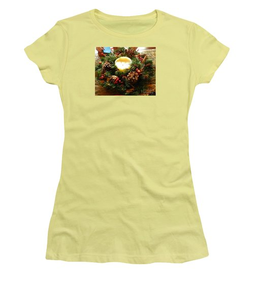 Friendly Holiday Reef Women's T-Shirt (Junior Cut) by Robin Coaker