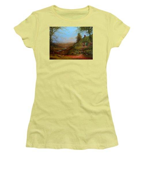 Frodo's Inheritance Bag End Women's T-Shirt (Junior Cut) by Joe  Gilronan