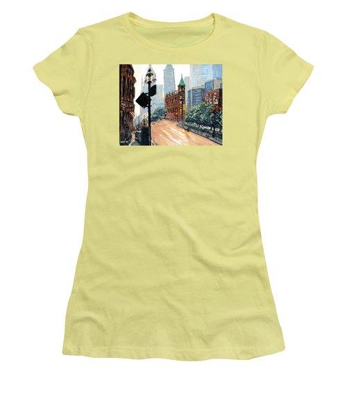 Front And Church Women's T-Shirt (Junior Cut) by Ian  MacDonald