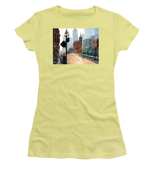 Front And Church Women's T-Shirt (Athletic Fit)