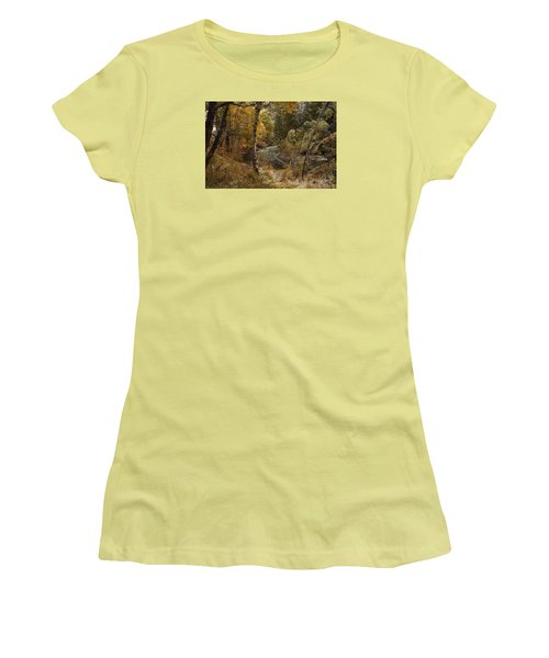 Women's T-Shirt (Junior Cut) featuring the photograph Frosty Fall  Morning by Duncan Selby