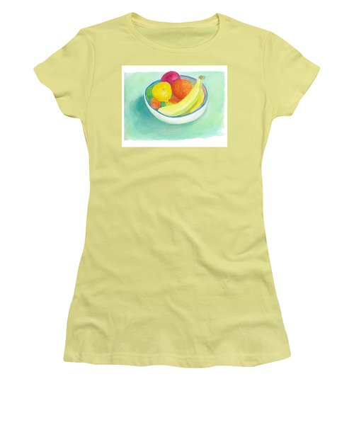 Women's T-Shirt (Junior Cut) featuring the painting Fruit Bowl by C Sitton