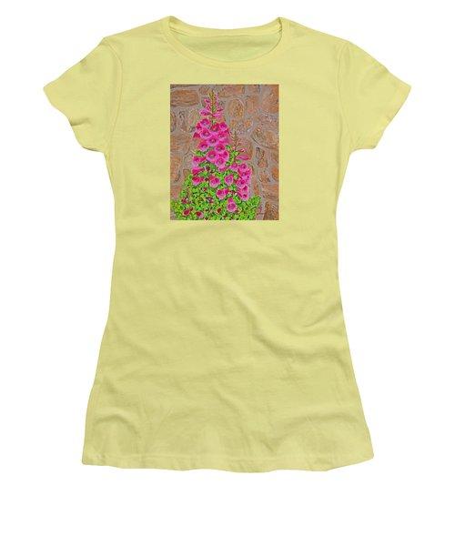 Fuchsia Profusion Women's T-Shirt (Junior Cut) by Donna  Manaraze