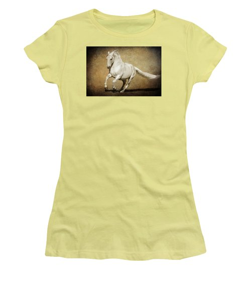 Women's T-Shirt (Junior Cut) featuring the photograph Full Steam Ahead by Wes and Dotty Weber