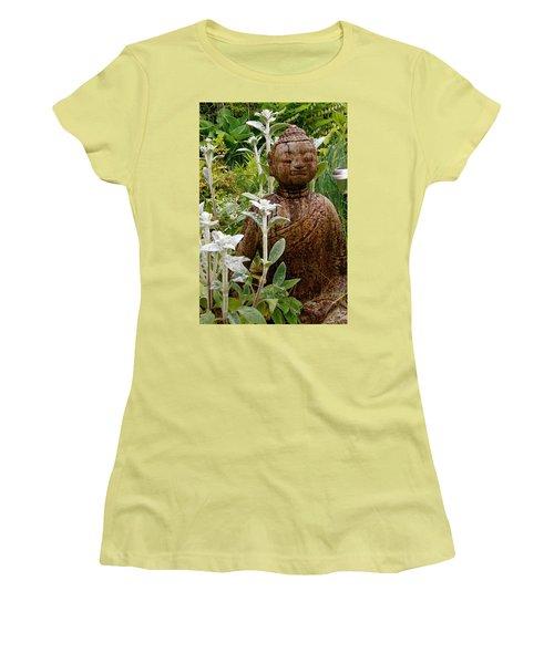 Garden Buddha Women's T-Shirt (Athletic Fit)
