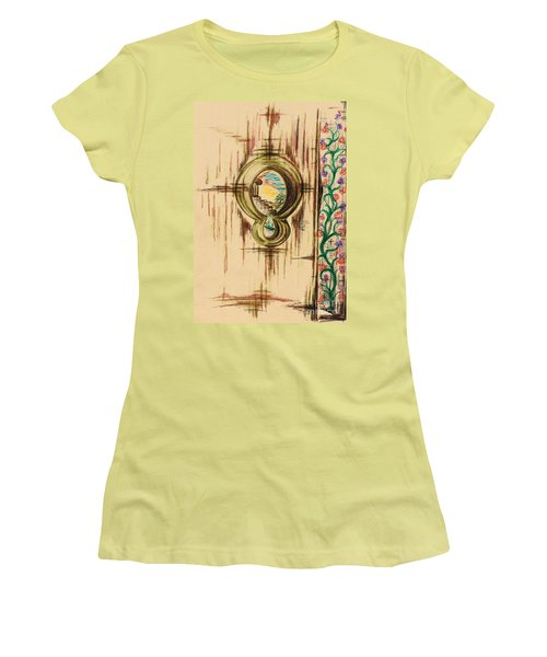 Garden Through The Key Hole Women's T-Shirt (Junior Cut) by Teresa White