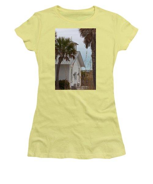 Women's T-Shirt (Junior Cut) featuring the photograph Gasparilla Island State Park Chapel by Ed Gleichman