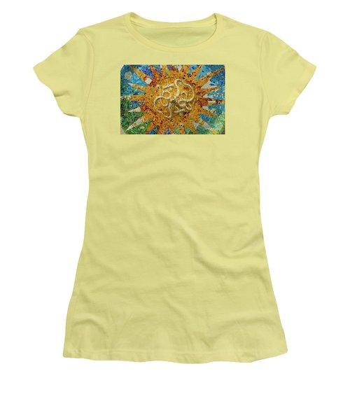 Women's T-Shirt (Junior Cut) featuring the photograph Gaudi Art by Mariusz Czajkowski