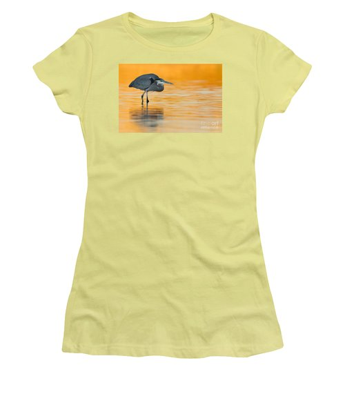 Women's T-Shirt (Junior Cut) featuring the photograph Gbh In Orange Water by Bryan Keil