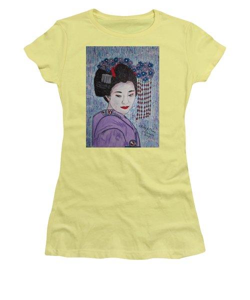 Geisha Girl Women's T-Shirt (Junior Cut) by Kathy Marrs Chandler