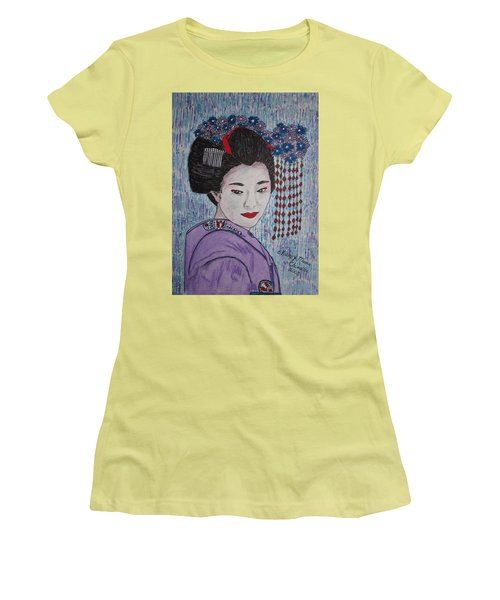 Geisha Girl Women's T-Shirt (Athletic Fit)