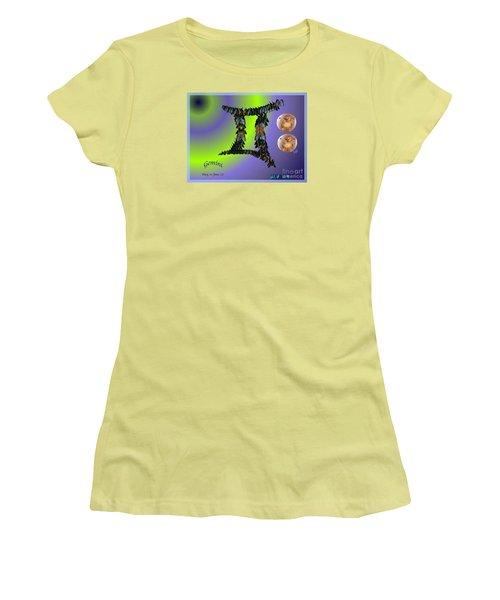 Women's T-Shirt (Junior Cut) featuring the digital art Gemini by The Art of Alice Terrill