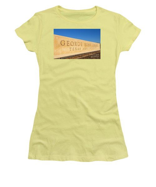 George H. Bush Library, Texas Women's T-Shirt (Athletic Fit)