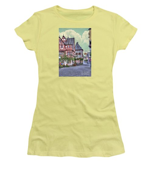 German Village Along Rhine River Women's T-Shirt (Athletic Fit)