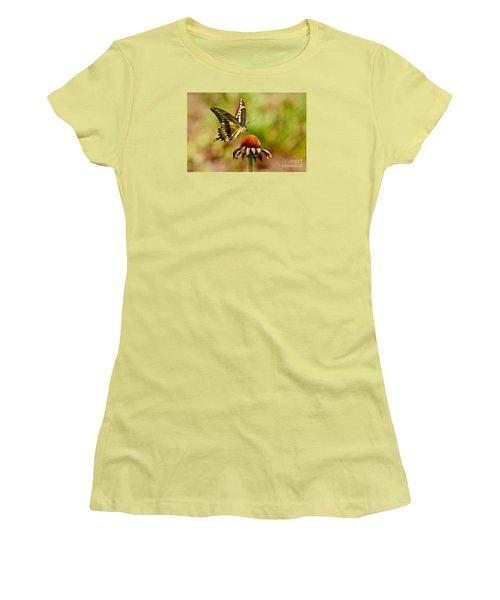 Giant Swallowtail Butterfly Women's T-Shirt (Junior Cut) by Kathy Baccari