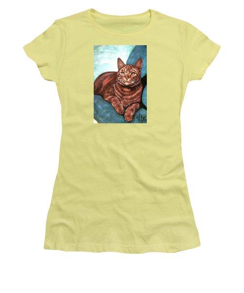 Ginger Tabby Women's T-Shirt (Junior Cut) by VLee Watson