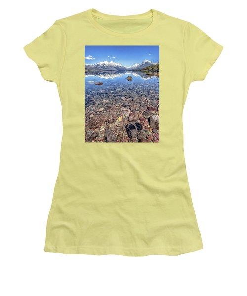 Glacial Lake Mcdonald Women's T-Shirt (Junior Cut) by Aaron Aldrich