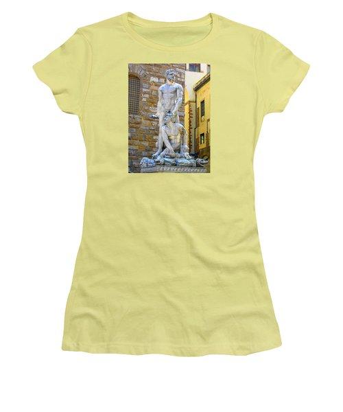 Glance At Hercules And Casus Women's T-Shirt (Junior Cut) by Oleg Zavarzin