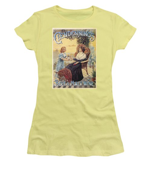 Women's T-Shirt (Junior Cut) featuring the photograph Glendenning's Beef And Malt Wine Ad by Gianfranco Weiss