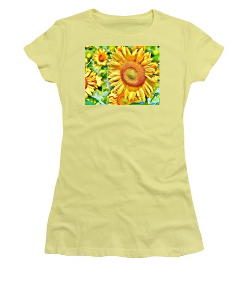 Glorious Sunflowers Women's T-Shirt (Athletic Fit)