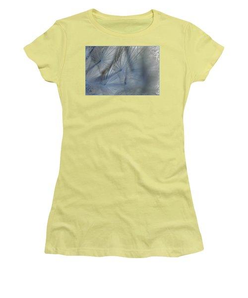 Goat's Beard Seed Macro Women's T-Shirt (Junior Cut) by Sandra Foster