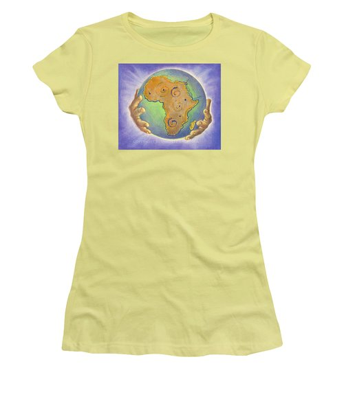 God Bless Africa Women's T-Shirt (Athletic Fit)