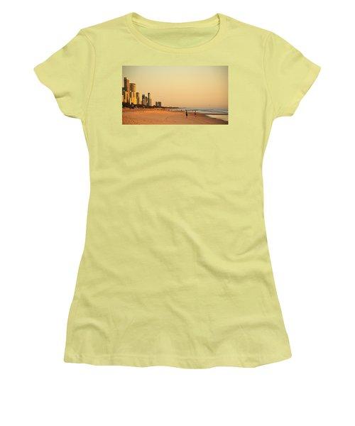 Women's T-Shirt (Junior Cut) featuring the photograph Gold Coast Beach by Eric Tressler