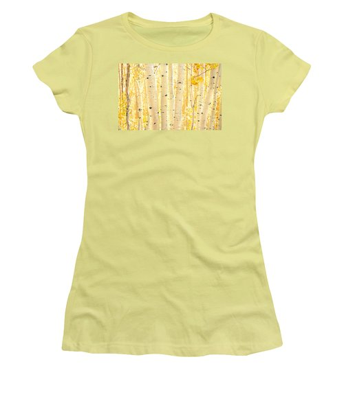 Golden Aspens Utah Women's T-Shirt (Athletic Fit)