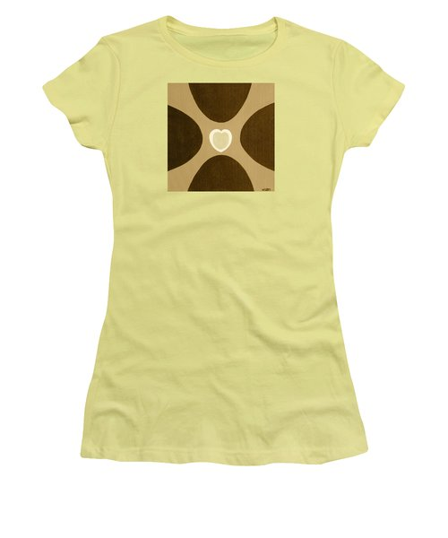 Golden Heart 3 Women's T-Shirt (Junior Cut) by Lorna Maza