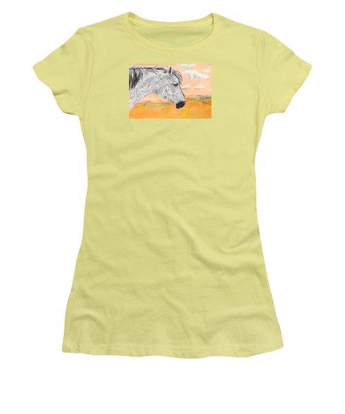 Golden Sky Women's T-Shirt (Junior Cut) by Jeanne Fischer