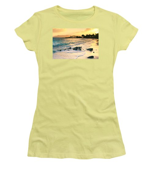 Golden Sunrise On Sapphire Beach Women's T-Shirt (Athletic Fit)