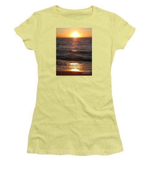 Golden Sunset At Destin Beach Women's T-Shirt (Junior Cut) by Christiane Schulze Art And Photography