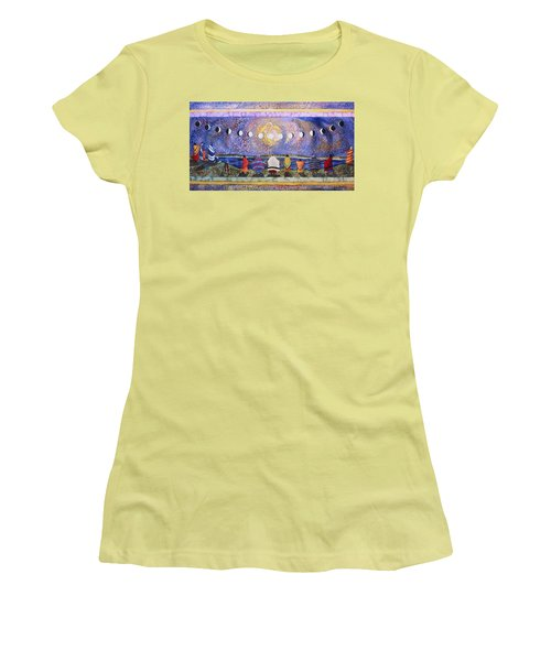 Grandmother Moon Women's T-Shirt (Junior Cut) by Lynda Hoffman-Snodgrass