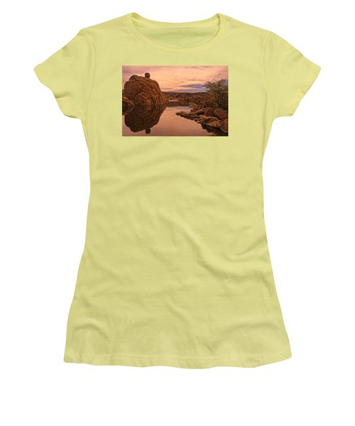 Women's T-Shirt (Junior Cut) featuring the photograph Granite Dells by Priscilla Burgers