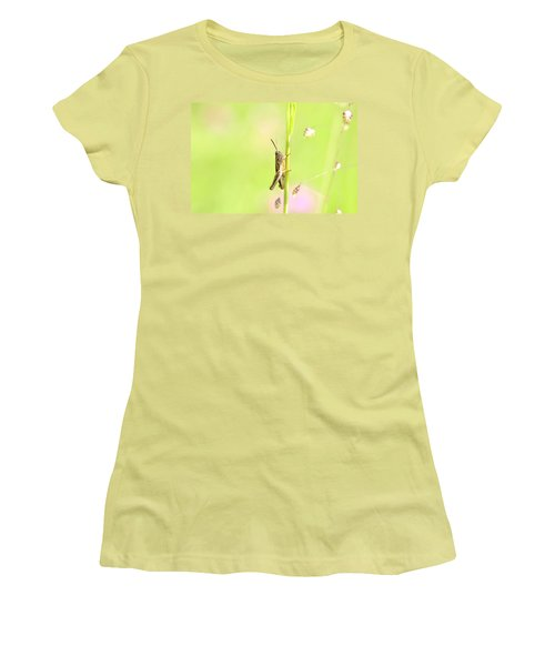 Grasshopper  Women's T-Shirt (Junior Cut) by Tommytechno Sweden