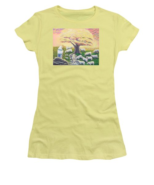 Green Pasture  Women's T-Shirt (Athletic Fit)