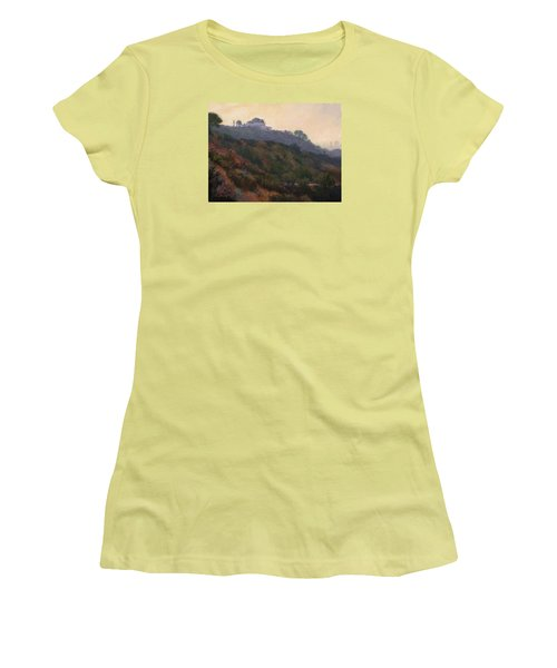 Griffith Park Observatory- Late Morning Women's T-Shirt (Junior Cut) by Jane Thorpe