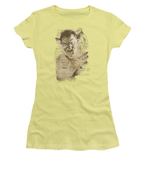 Grimm - Murcielago Sketch Women's T-Shirt (Athletic Fit)