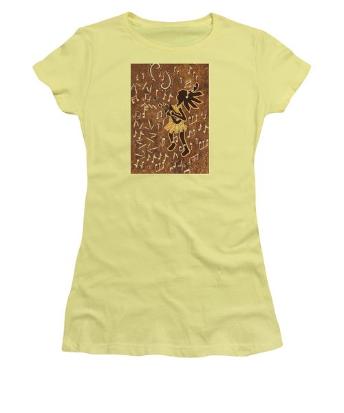 Guitar Player Women's T-Shirt (Junior Cut) by Katherine Young-Beck