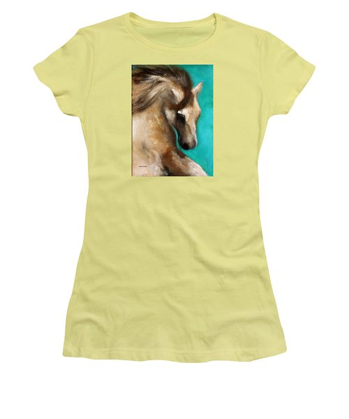 Women's T-Shirt (Junior Cut) featuring the painting Gypsy by Barbie Batson