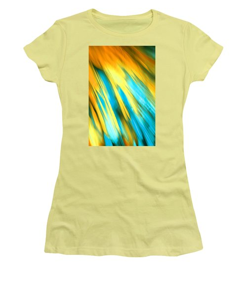 Happy Together Right Side Women's T-Shirt (Junior Cut) by Dazzle Zazz