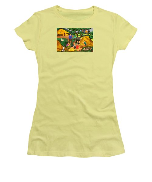 Harvest Time Women's T-Shirt (Junior Cut) by Lorna Maza
