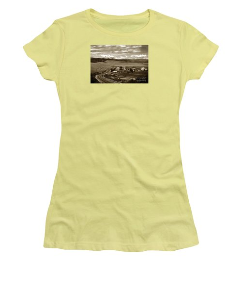 Hatton Ranch Carmel Valley From Highway One California  1940 Women's T-Shirt (Junior Cut) by California Views Mr Pat Hathaway Archives