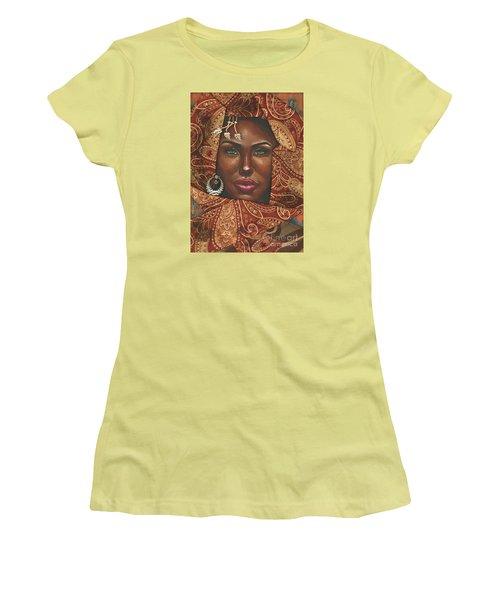 Hazel Eyes Women's T-Shirt (Junior Cut) by Alga Washington