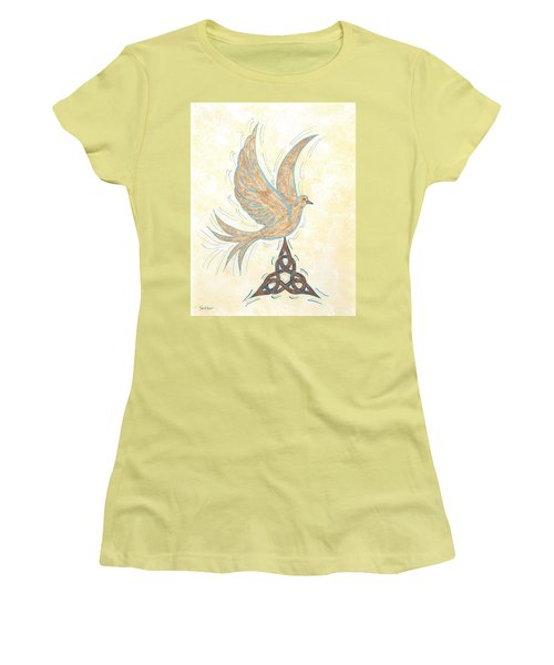 Women's T-Shirt (Junior Cut) featuring the painting He Set Us Free by Susie WEBER