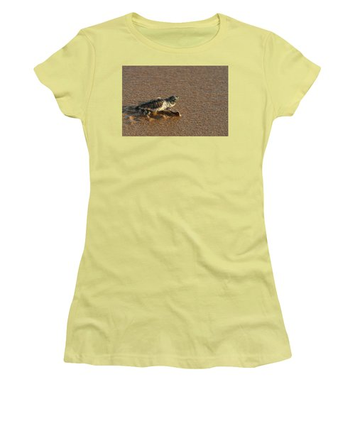 Women's T-Shirt (Junior Cut) featuring the photograph Heading Out To Sea by Paul Rebmann