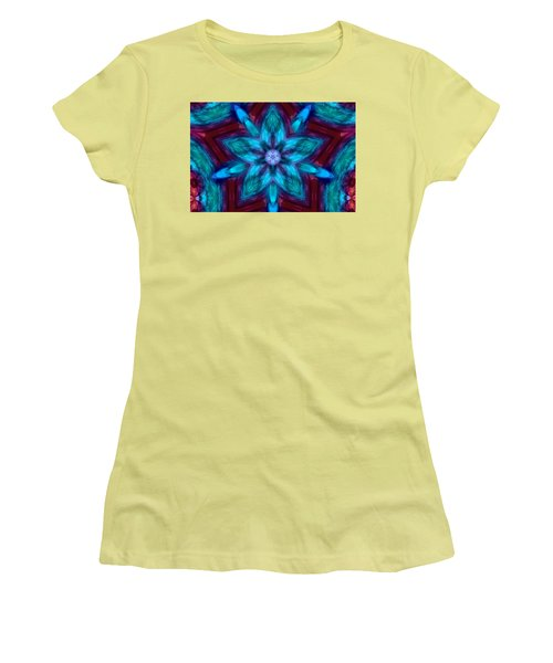Heart Flower Women's T-Shirt (Athletic Fit)