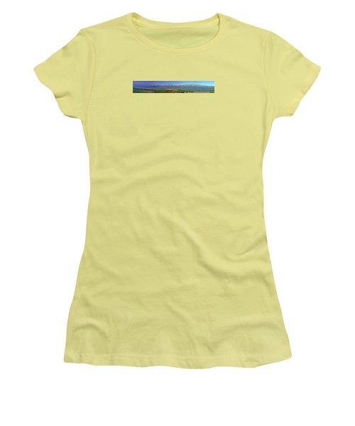 Heart Of The Sawatch Panoramic Women's T-Shirt (Junior Cut) by Jeremy Rhoades