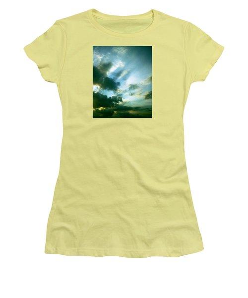 Golden Heavenly Rays Women's T-Shirt (Junior Cut) by Belinda Lee