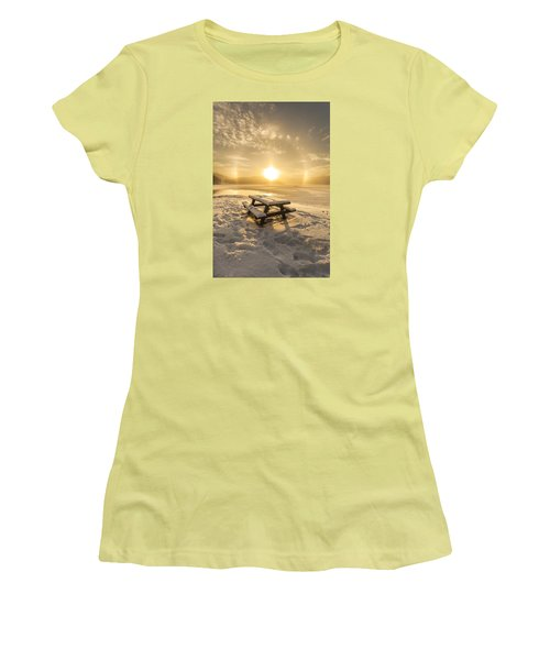 Women's T-Shirt (Junior Cut) featuring the photograph Heavenly Sleep by Rose-Maries Pictures